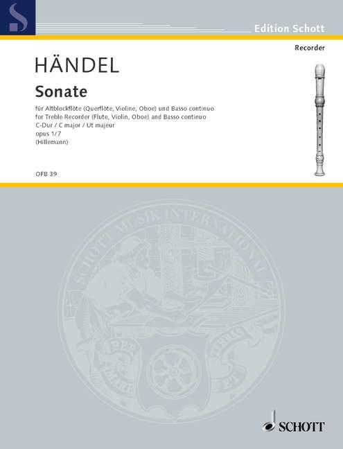 from Four Sonatas op Sonata No.7 in C major 1//7 HWV 365  Handel   treble recor